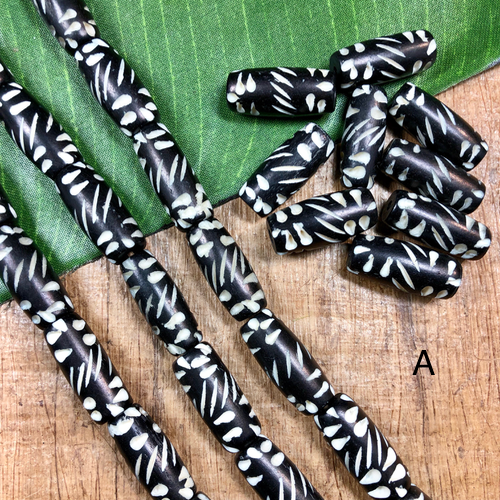 Etched Bone Beads