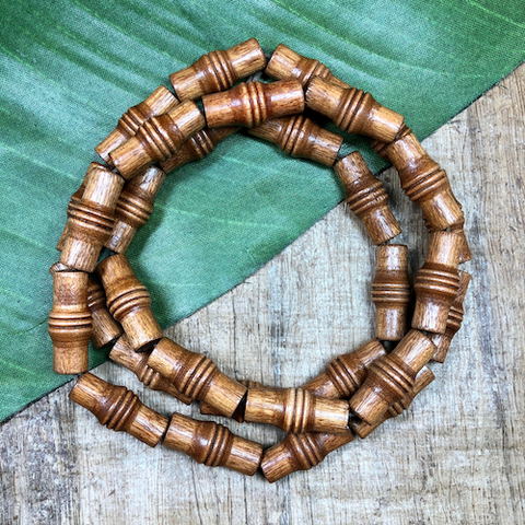 Brown Barrel Beads - 30 Pieces