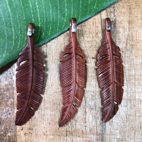 wood feathers