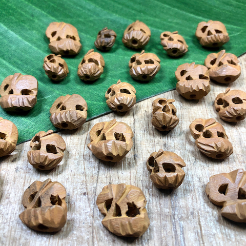 Brown Wood Elephants - 15 Pieces