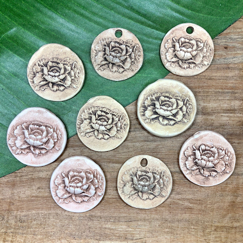 Handmade Calfornia Ceramic Disc Pendants - 1 Piece