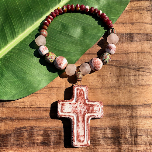 Art Cross Necklace