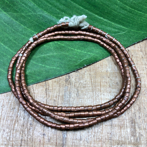 Copper Tube Beads - 34""