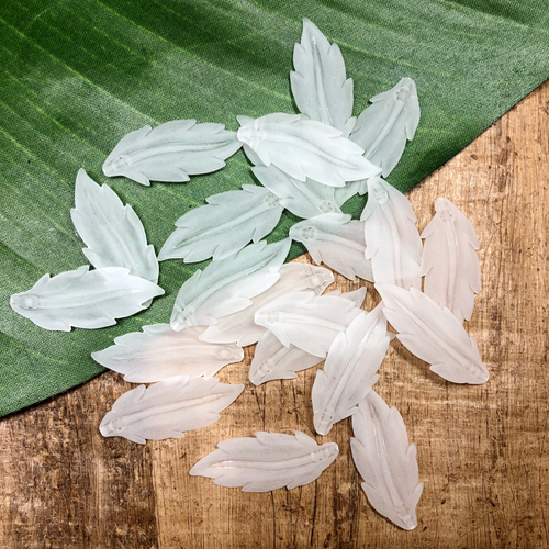 Crystal Long Leaves - 25 Pieces