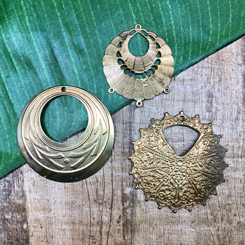 Brass Earring Components