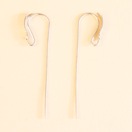 hammered - sterling silver earwire