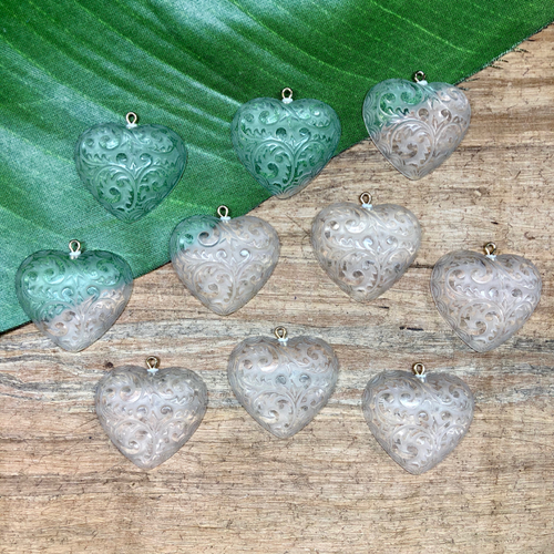 Etched Hearts - 3 Pieces