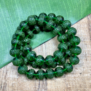 "Green ""Sugar"" Beads - 50 Pieces"