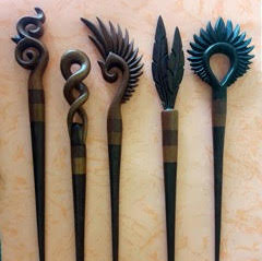 Wooden Hair Sticks