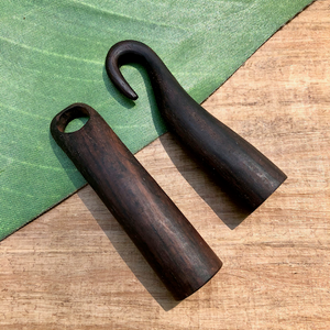 Hand Carved Wood Hook & Eye - 1 Piece