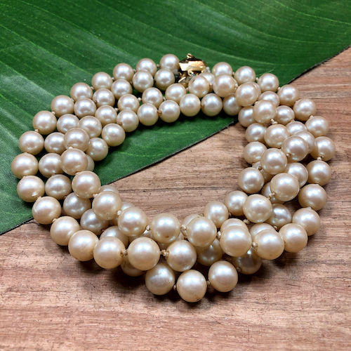 Vintage Knotted Pearl Necklace - 103 Pieces