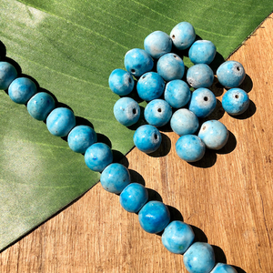 Light Blue Ceramic Beads - 18 Pieces