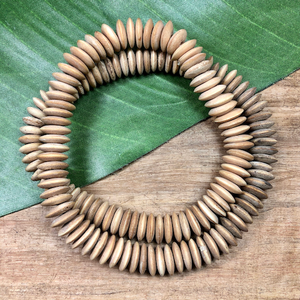 Blonde Wood Disc Beads - 150 Pieces