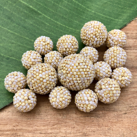 Linen Beaded Beads - Confetti