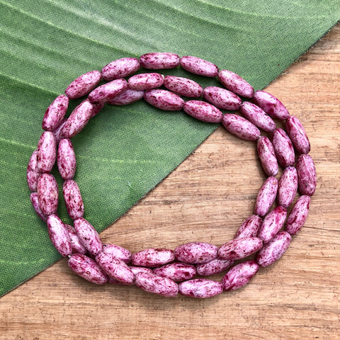 Mauve Tube Beads - 50 Pieces