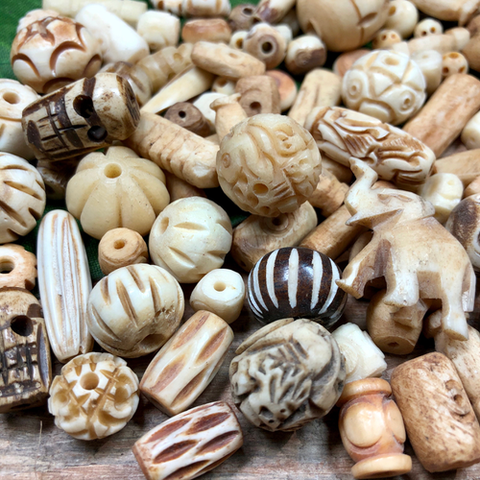 Mixed Bone Beads - 50 Gram Bags