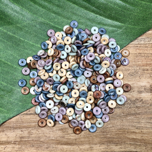 Colorful Small Disc Beads - 20 Grams