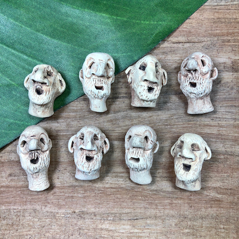 Ceramic Old Men - 3 Pieces