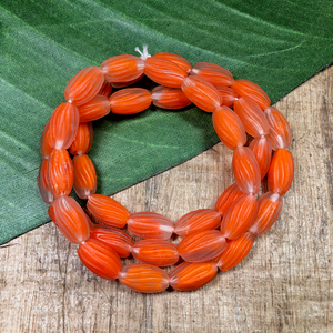 Orange Oval Beads - 40 Pieces