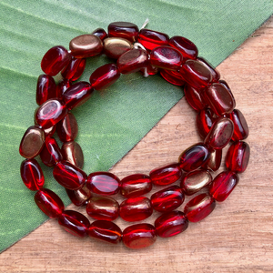 Red and Gold 3 sided Oval - 50 Pieces