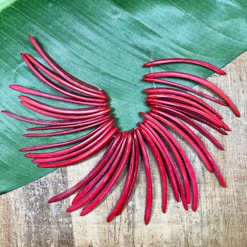 Red Coconut Spikes - 35 Pieces