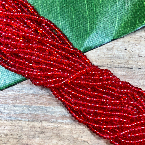 seed bead - red strand