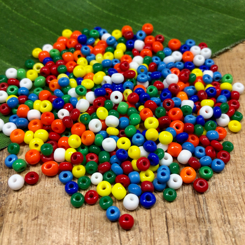 Primary Mix Seed Beads - 70 Grams
