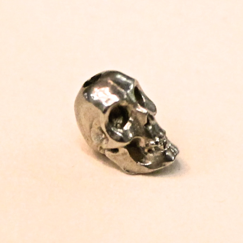 skull bead white brass 8mm