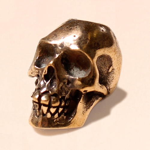 skull bead brass 12mm