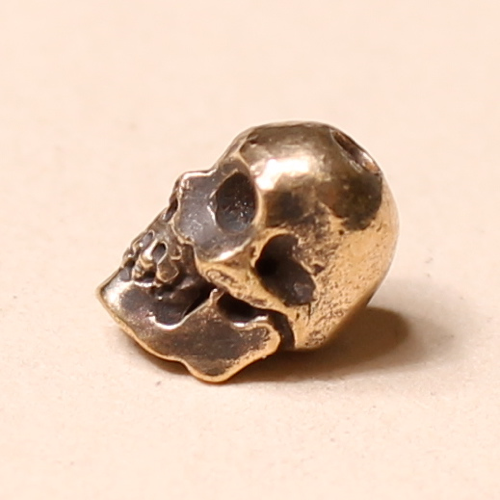 skull bead brass 8mm