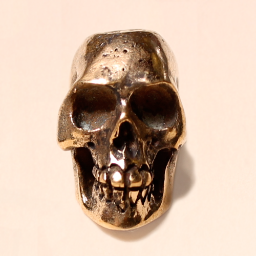 skull bead brass 16mm