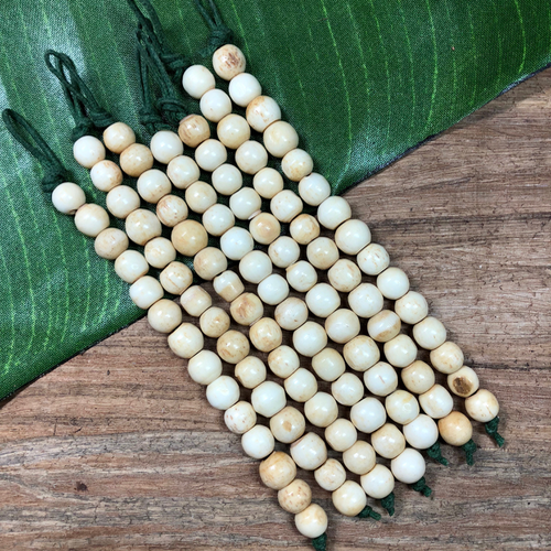 Round Bone Beads - 15 Pieces