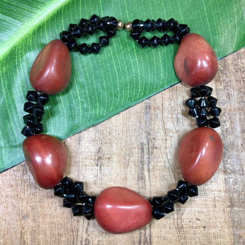 Tagua Nut Beads - 12 Pieces