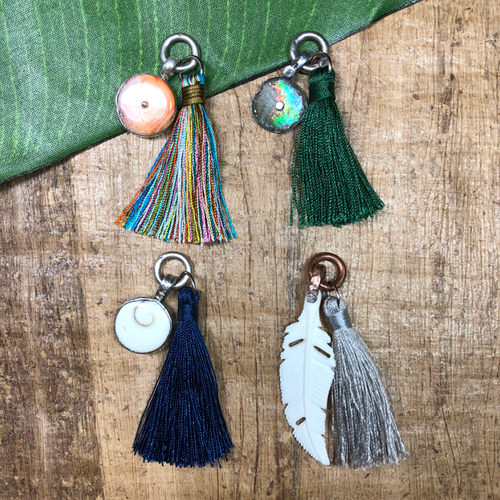rayon tassels with pendants