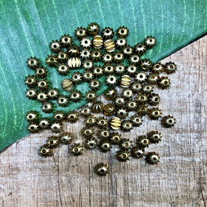 Brass Melon Beads  - 50 Pieces
