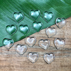 Translucent Heart Pendants - 9 Pieces
