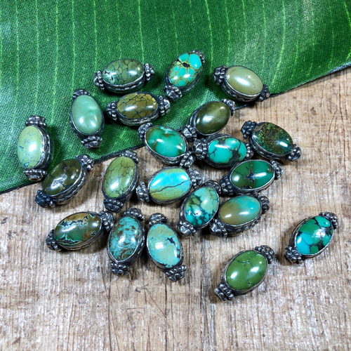 Medium - turquoise/sterling beads