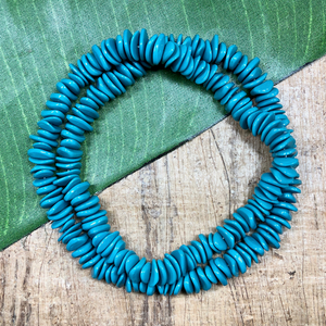 Turquoise Chip Glass Beads - 200 Pieces