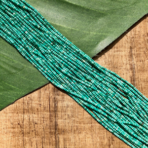 Turquoise Heishi Strands - 1 Strand