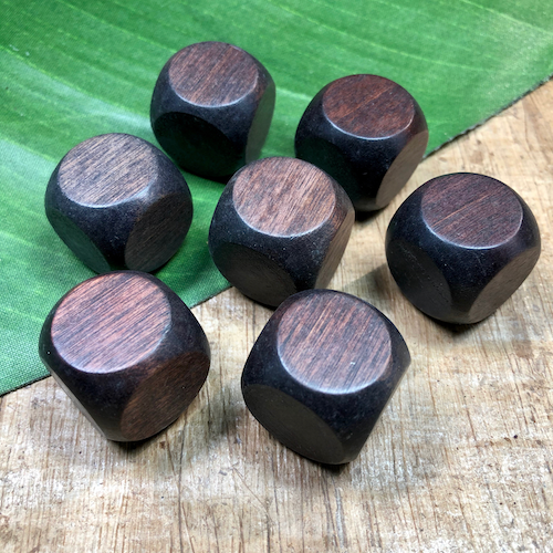 Wooded Dice - 7 Pieces