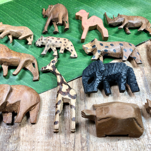 Assorted Wooden Animals - 12 Piece