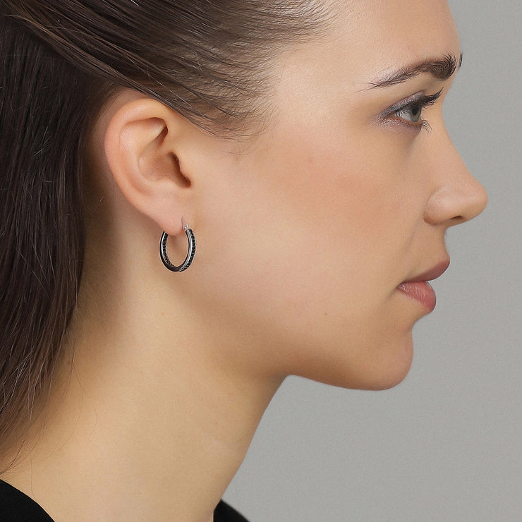 Black Fire Earring