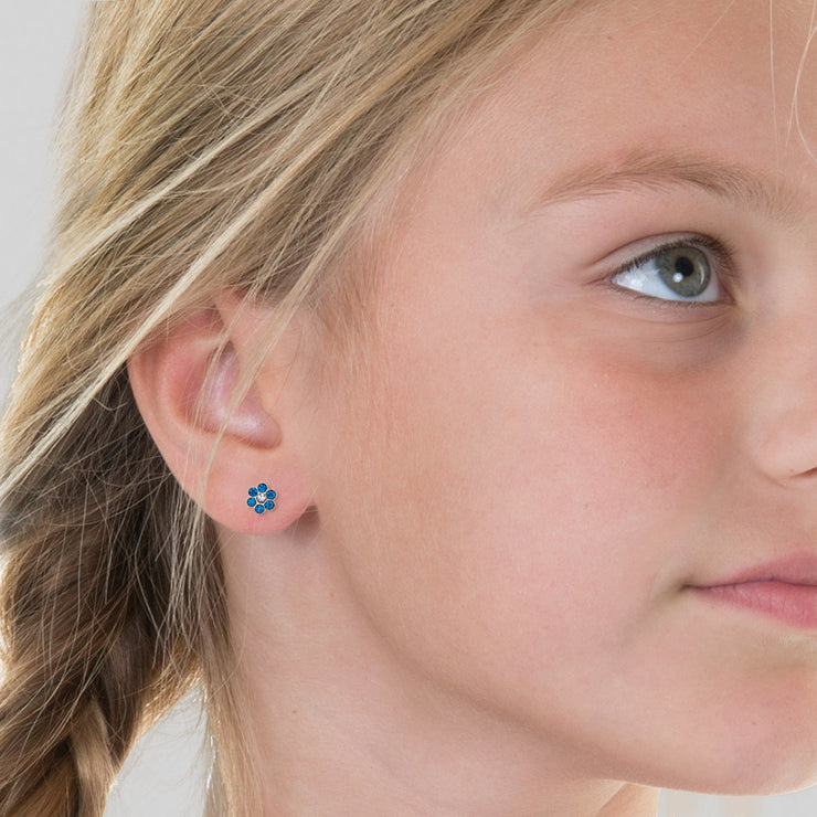 Blue Kids Earring