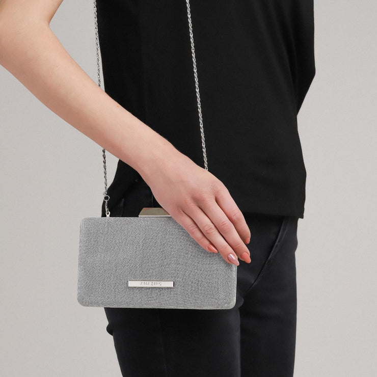 Grey Clutch Handbag