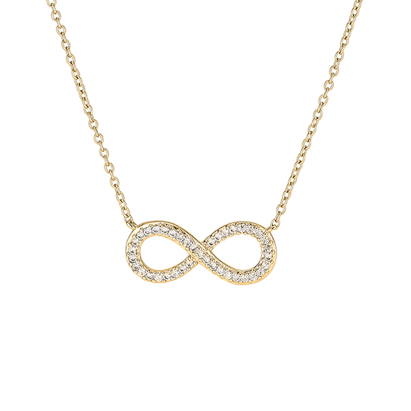 Clear Infinity Necklace