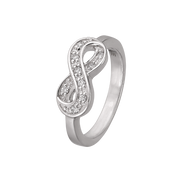 Clear Infinity Ring
