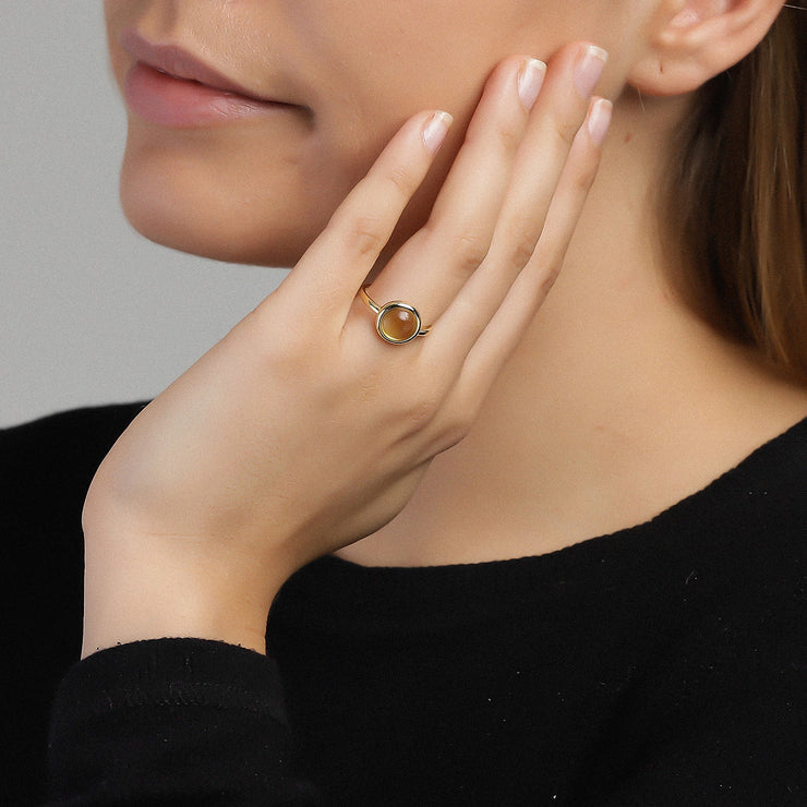 Citrine Confetti Ring