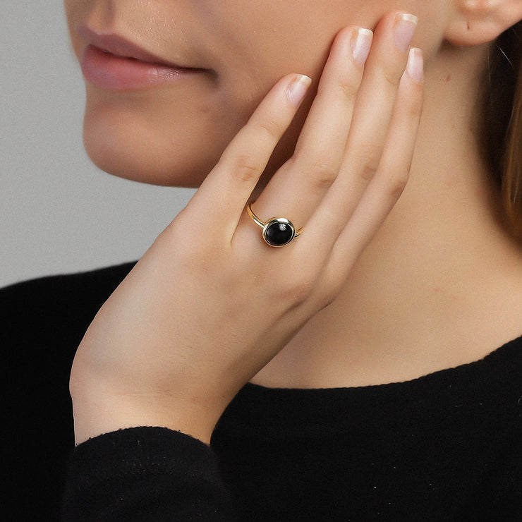 Black Confetti Ring