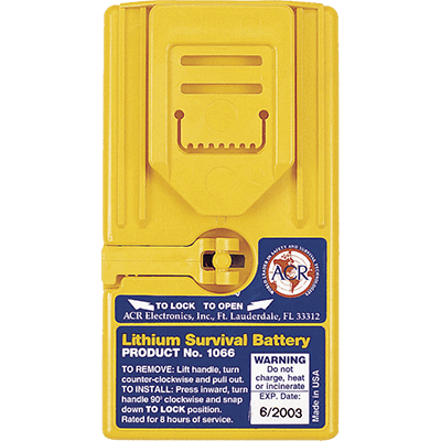 Lithium Battery Pack, Survival VHF