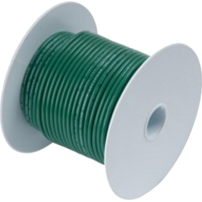 Wire, 100' #10 Tinned Copper, Green